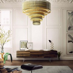 Matheny Chandelier Brass